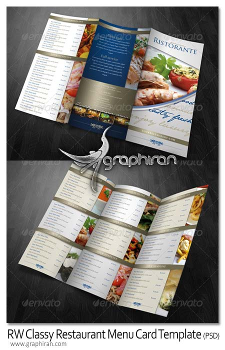 RW Classy Restaurant Menu Card Template