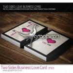 دانلود کارت ویزیت با طرح عاشقانه، دو رو و کاملا لایه باز