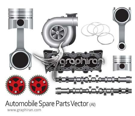 automobile spare parts vector