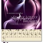 دانلود براش نورهای خمیده فتوشاپ – Lovely Photoshop Brush