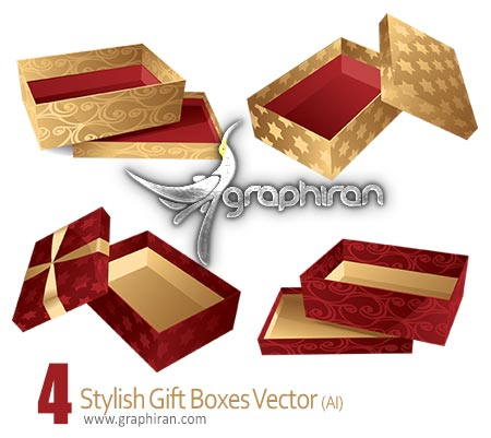 stylish gift boxes vector