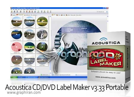 Acoustica CD DVD Label Maker v3.33