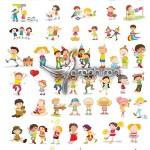 دانلود وکتورهای کودک و بازی بچه ها – Children Vector Set