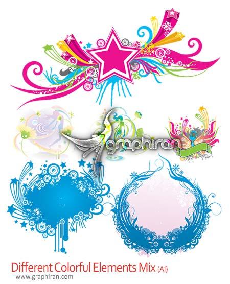 Different Colorful Elements Mix