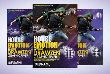 House Emotion flyer Template