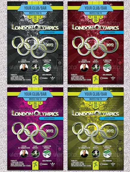 دانلود پوستر المپیک لندن London Olympics Flyer