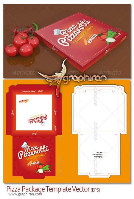 طرح و الگوی بسته بندی پیتزا