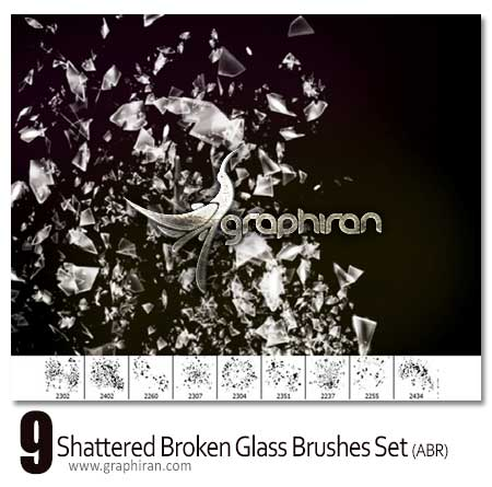 Shattered Broken Glass-Brushes Set