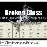 دانلود براش فتوشاپ شیشه ترک برداشته – Broken Glass Brush