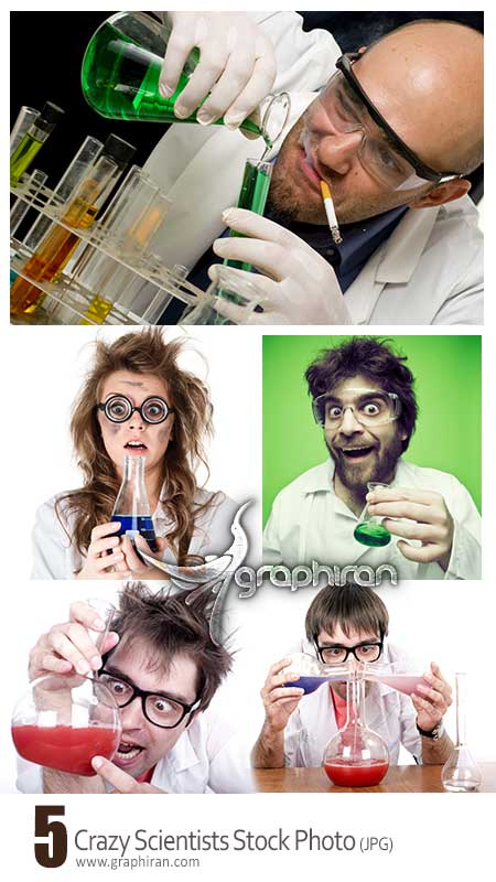 crazy scientist photo