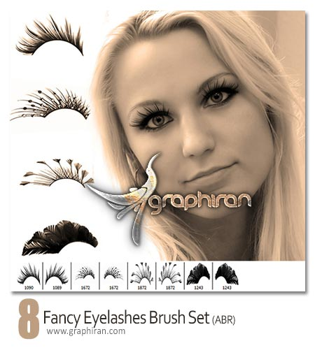 fancy eyelashes brush set