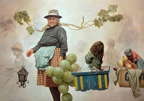 gm1 آثار نقاشی سورئال و انتزاعی Johnny Palacios از کشور اسپانیا