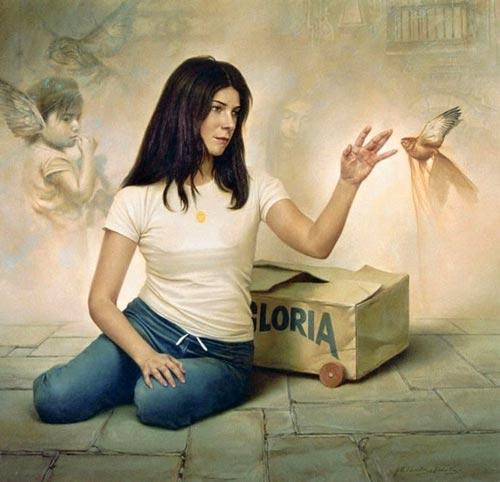 gm14 آثار نقاشی سورئال و انتزاعی Johnny Palacios از کشور اسپانیا