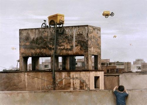 gm20 آثار نقاشی سورئال و انتزاعی Johnny Palacios از کشور اسپانیا