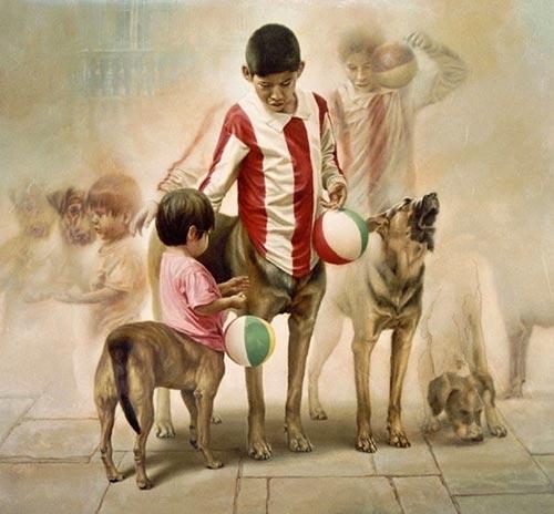 gm4 آثار نقاشی سورئال و انتزاعی Johnny Palacios از کشور اسپانیا