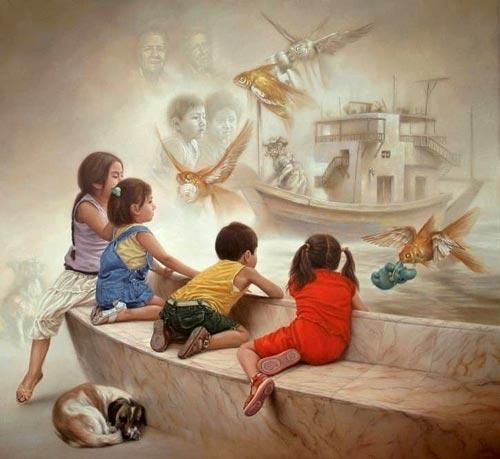 gm5 آثار نقاشی سورئال و انتزاعی Johnny Palacios از کشور اسپانیا