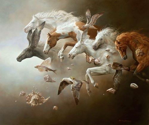 gn1 آثار نقاشی سورئال و انتزاعی Johnny Palacios از کشور اسپانیا