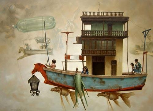 gn13 آثار نقاشی سورئال و انتزاعی Johnny Palacios از کشور اسپانیا