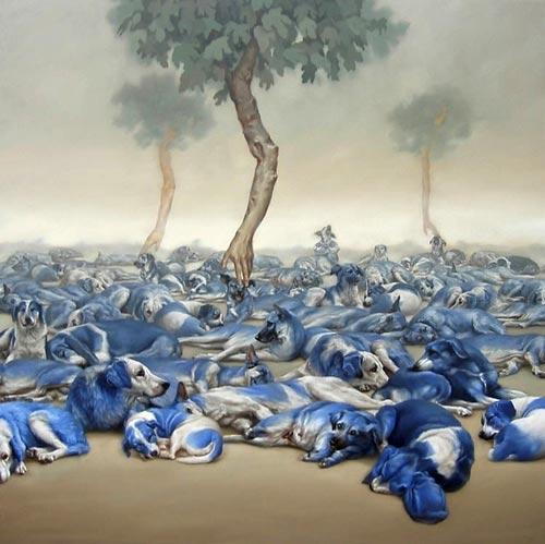 gn14 آثار نقاشی سورئال و انتزاعی Johnny Palacios از کشور اسپانیا