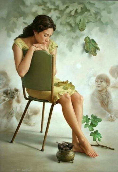 دختر و گیاه