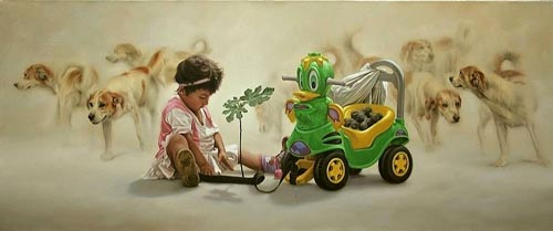 gn9 آثار نقاشی سورئال و انتزاعی Johnny Palacios از کشور اسپانیا