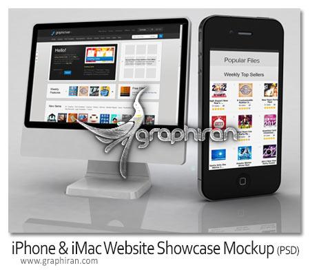 فایل لایه باز آیفون و iMac برای نمایش صفحات وب و نرم افزارها