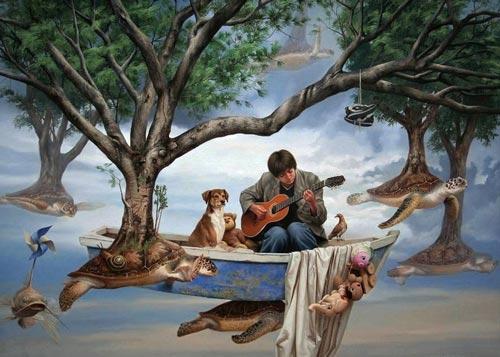 jpn4 آثار نقاشی سورئال و انتزاعی Johnny Palacios از کشور اسپانیا