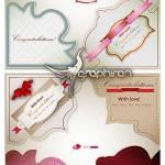 دانلود وکتورهای لیبل، برچسب و روبان های عاشقانه و رمانتیک