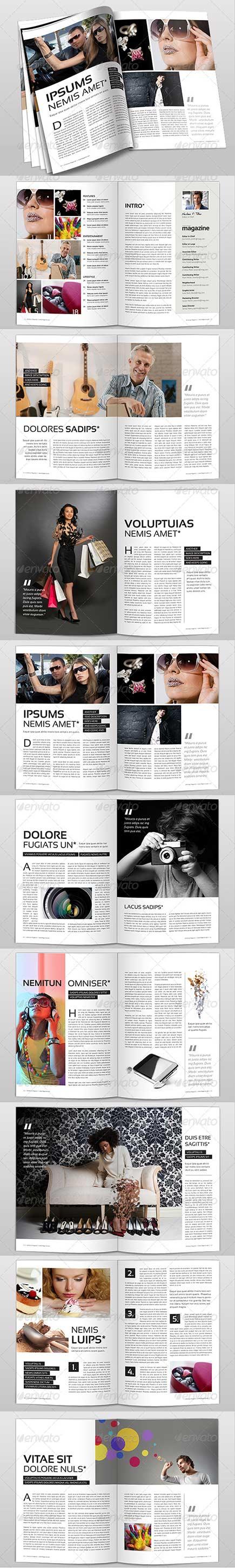 دانلود قالب آماده مجله magazine template