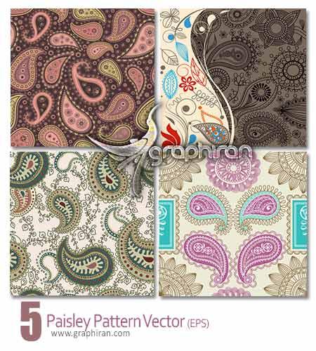 paisley pattern vector دانلود وکتورهای بک گراند نقوش بته جقه سنتی و شرقی برای فتوشاپ