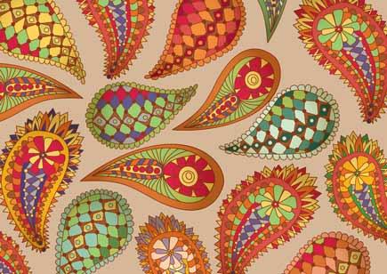 دانلود وکتور بته جقه paisley pattern vector