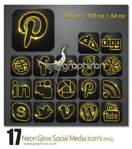 آیکون های شبکه های اجتماعی