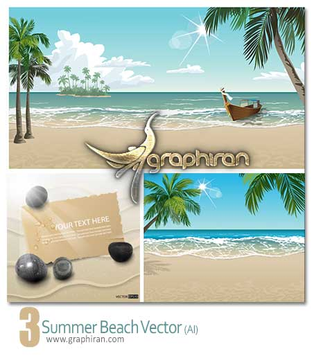 summer beach vector