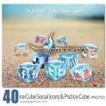 دانلود ۴۰ آیکون شبکه اجتماعی به شکل یخ های مکعبی بسیار زیبا