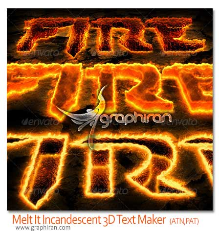 Melt ItThe Premium Incandescent 3D Text Maker