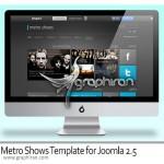 دانلود رایگان قالب جوملا ۲٫۵ به نام Metro Shows + فایل PSD