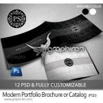 دانلود قالب PSD لایه باز کاتالوگ یا بروشور با دو تم رنگی مختلف