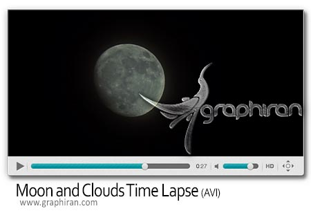 Moon and Clouds Time Lapse