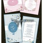 دانلود طرح های PSD لایه باز کارت دعوت عروسی زیبا با حاشیه گل