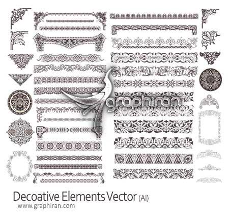 عناصر تزئینی کادر و حاشیه