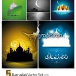 دانلود تصاویر پس زمینه وکتور ماه مبارک رمضان Ramadan Vector