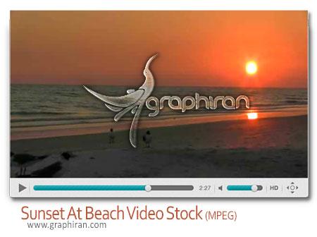 ویدئو استوک غروب خورشید