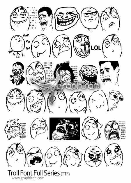 فونت ترول troll font