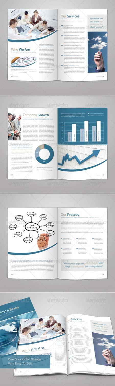 Bifold Brochure template دانلود قالب لایه باز بروشور شرکتی و تجاری برای Adobe InDesign
