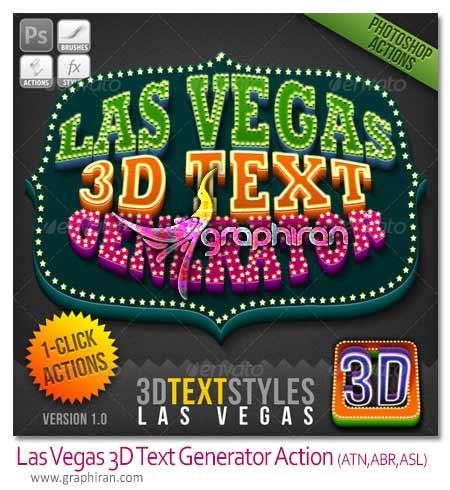 Las Vegas 3D Text Generator