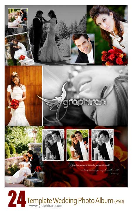 Template Wedding photobook PSD