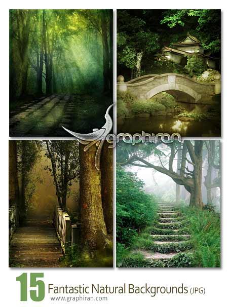 بک گراند طبیعت زیبا و فانتزی