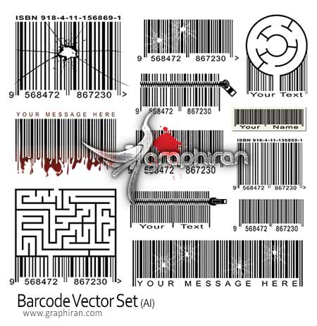 وکتور بارکد barcode vector