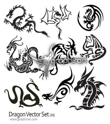 دانلود وکتور اژدها dragon vector