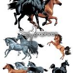 دانلود تصاویر وکتور گرافیکی اسب های زیبا Horses Vector Set